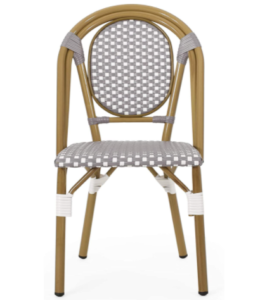 Outdoor French Bistro Gray/white Bamboo Look Dining Chairs