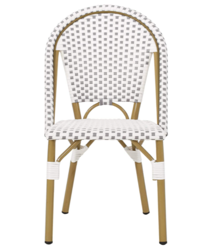 All-weather French Bistro Gray/white Dining Chairs