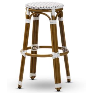 French style aluminum bistro bar stools