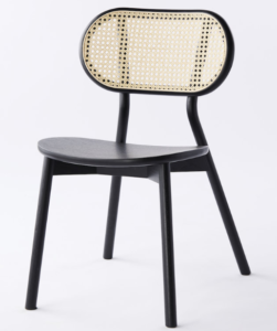 Ash wood cane back dining chair