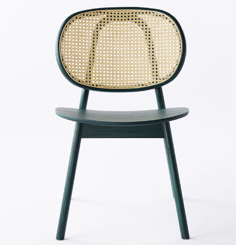 Wholesale furniture wooden frame cane dining chair