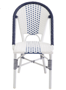 Commercial furniture aluminum bamboo finish rattan cafe chair