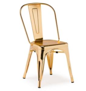 Restaurant chair rbass gold metal tolix dining chair