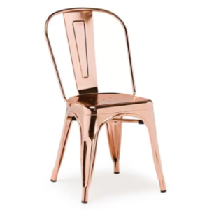 Restaurant Chair Copper/rose gold metal tolix dining chair