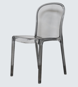 Plastic chair stackable gray acrylic chair