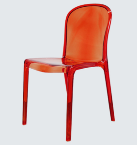 Plastic chair red stackable acrylic chair