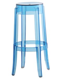 Devil Stool Blue Acrylic Ghost bar stool