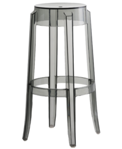 Devil Stool Gray Acrylic Ghost bar stool