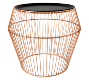Rose gold metal wire cocktail coffee table