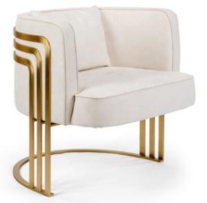 High quality gold plated stainless steel frame velvet upholstered dining chair