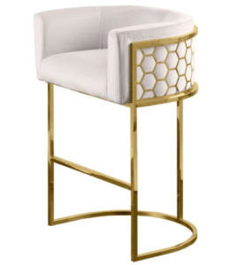 Commercial furniture stainless steel frame upholstered bar stool high chair
