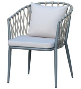 Garden chair aluminum frame rope restaurant chair