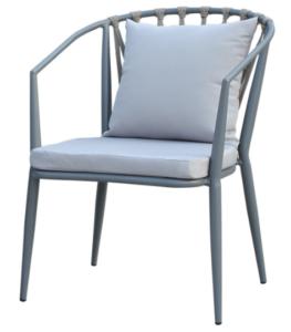 Garden chair aluminum frame stacking rope armchair