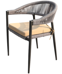 Garden Chair Aluminium Frame Rope Stackable Dining Chair