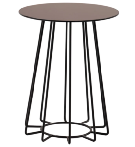 Brown metal wire round side table