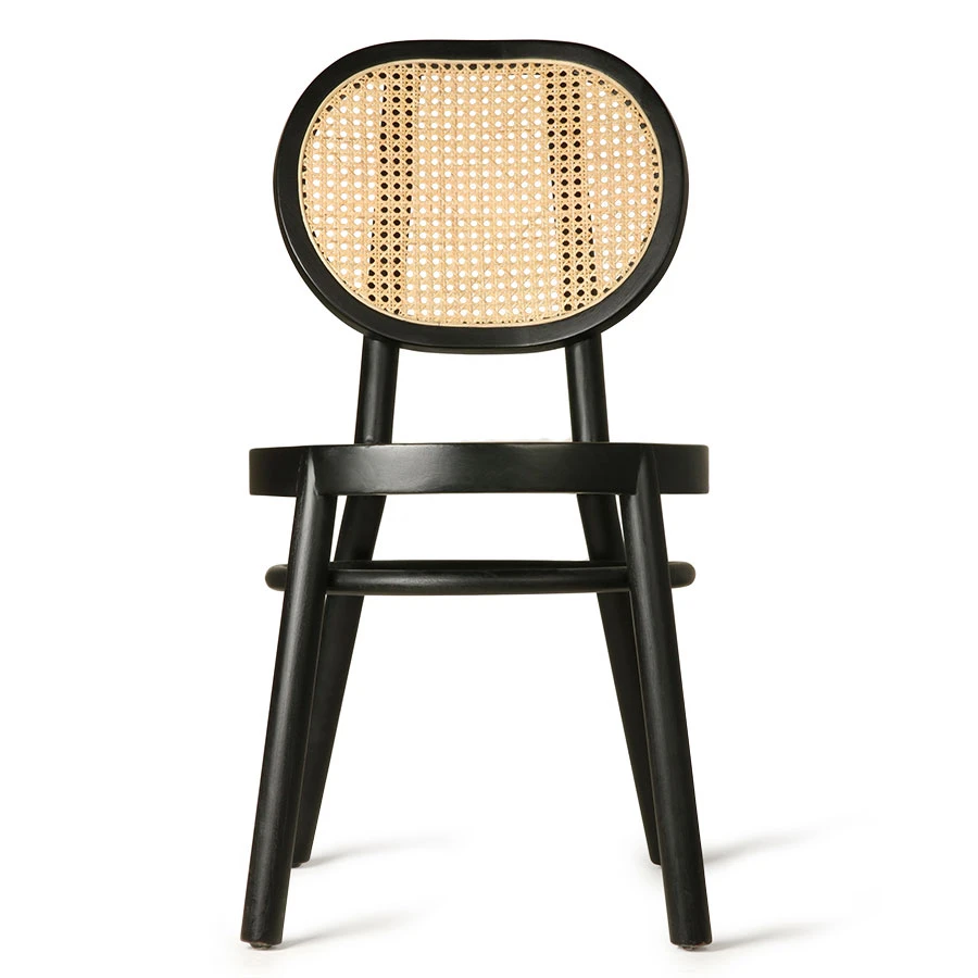 Hospitality furniture ash wood cane back dining chair for sale