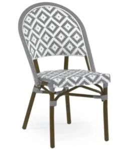 Aluminum bamboo diamond back bistro chair
