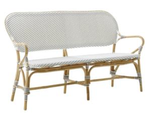 Garden furniture aluminum frame rattan bench armchair