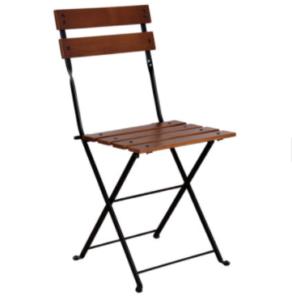 Garden furniture wooden bistro folding chair
