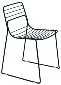 Commercial furniture black metal wire chair