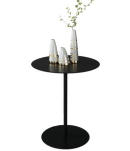 Elegant style black metal side table