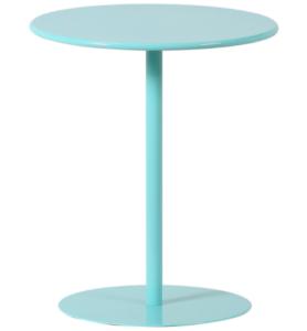 Modern design blue powder coating round metal side table