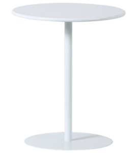 Modern design white powder coating metal round side table