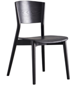 Modern design black wooden hotel dining chair