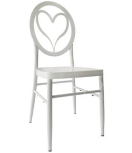 New design white aluminum wedding rental chair