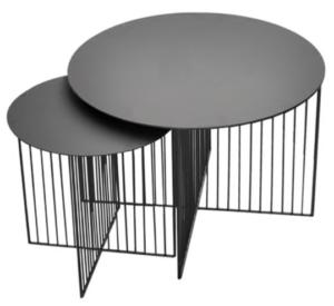 Modern design black metal wire coffee table set
