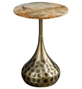Wholesale marble top metal base side table