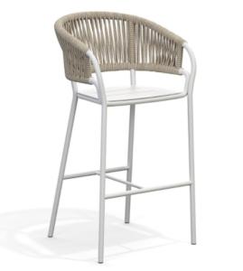 Outdoor furniture aluminum frame rope weaving garden bar chair