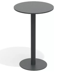 Wholesale full aluminum with black powder coating round bar table