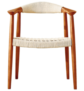 Contract furniture ash wood frame with rope weaving armchair