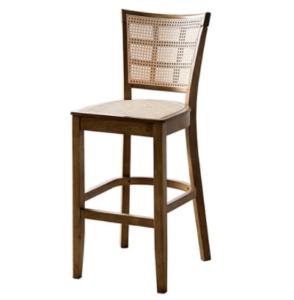 Walnut ashwood frame cane bar chair