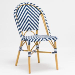 Outdoor aluminum stackable bistro cafe chair