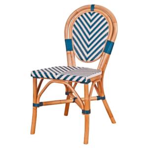 Aluminum frame PE wicker restaurant cafe dining chair