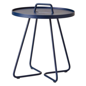 Outdoor furniture navy blue powder coated aluminum side table