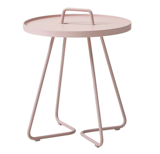 Outdoor furniture pink powder coated aluminum side table