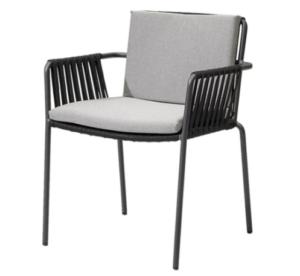 Outdoor furniture aluminum frame rope armchair