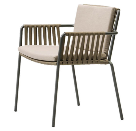 Hot sale aluminum frame rope armchair for wholesale
