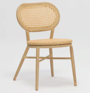 Natural color aluminum frame rattan bistro chair for wholesale