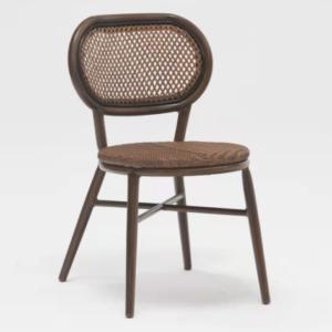 Brown color aluminum frame restaurant chair