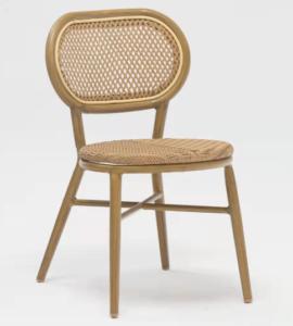 Garden chair aluminum frame rattan chair