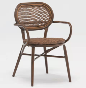 Wholesale aluminum frame rattan bistro armchair