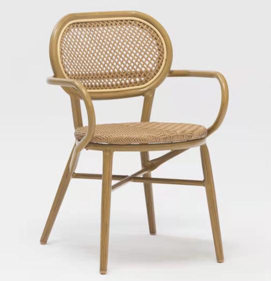 Golden stainless steel frame velvet weaving dining chair